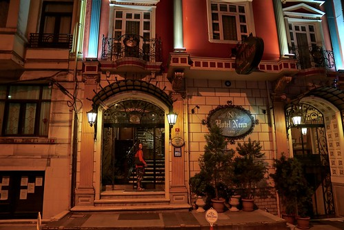 Hotel Nena at night