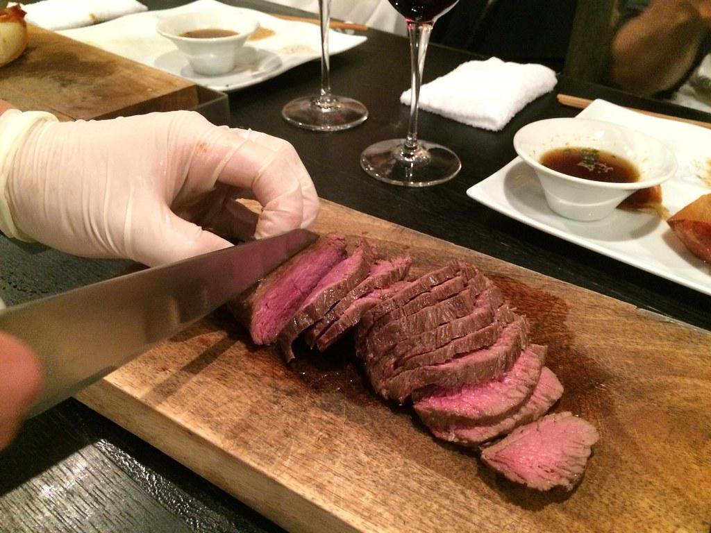 肉2 わさびで食べた気がする赤身だいすき!