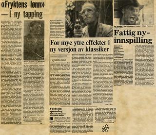 Fryktens lønn / Wages of Fear (1978)