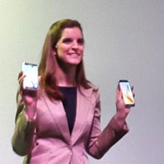 Carolina Goodcare de @samsungarg presenta los #Galaxy #S6 y #S6Edge en #eventoGalaxyS6