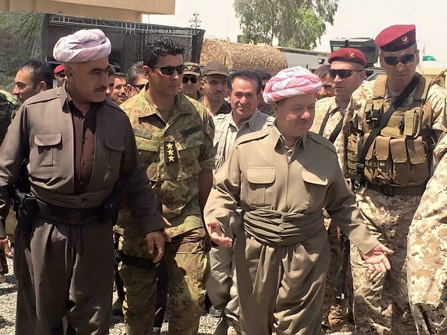 President Barzani has went Gwer & Mexmur today, Friday 17th July to the battlefield to motivate the brave Peshmarga's.    .......    www.instagram.com/saftibarzani/