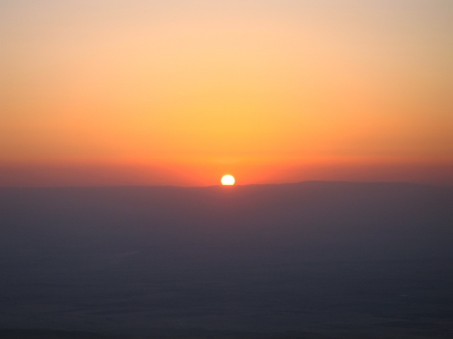 Atardecer en el Monte Nebo (Jordania)
