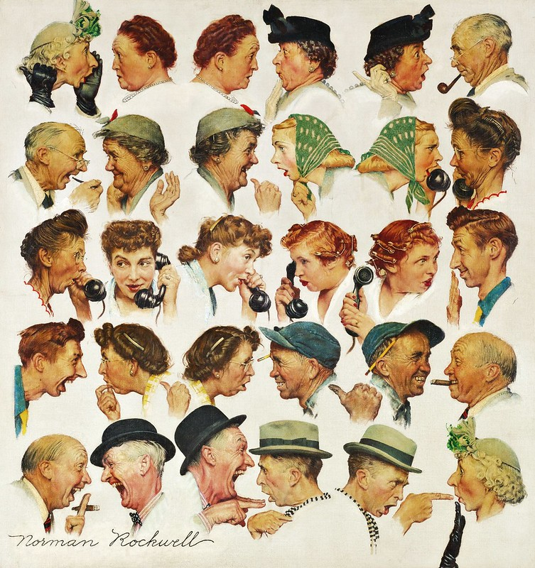 Norman Rockwell - The Gossips (1948)
