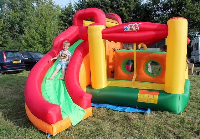 seb 6th birthday bebop castle slide bouncy