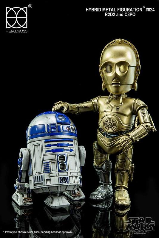 HEROCROSS – 星際大戰【R2-D2和C-3PO】Hybrid Metal Figuration 系列 #024 R2-D2 and C-3PO