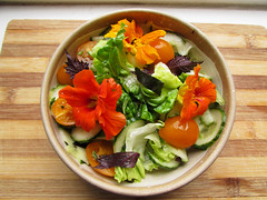 RAW flower salad