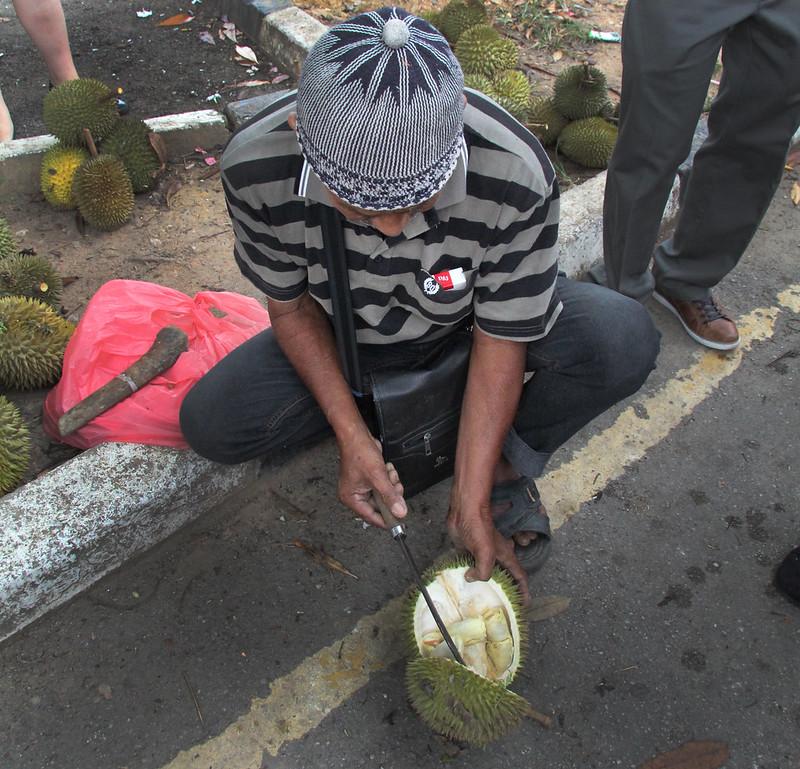 Durian Seller at Kuala Kangar market