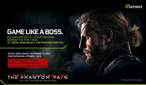 [PR]Nhận free code game Metal Gear Solid V: The Phantom Pain khi mua ASUS G751JT và G751JY - 86149