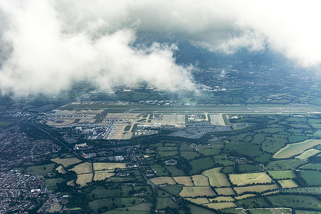 Aerial view of London Gatwick Airport