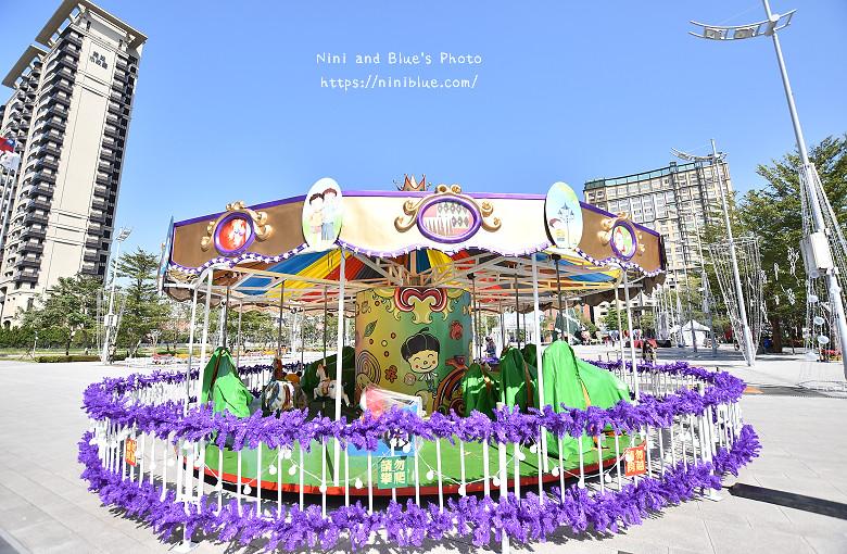 台中市府廣場耶誕夜遊樂園01