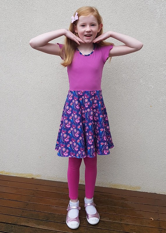 Boo Designs Skater dress in cotton lycra knits from Crafty Mamas