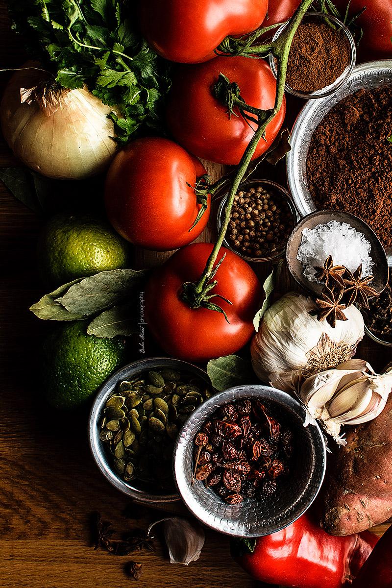 Chili vegano con chocolate