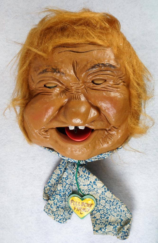RD10680 Vintage Laffun Head Bibi Products Peter Figuren Old Woman DSC08331