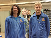 Students Kalanikapu Copp (Windward Community College) and Nicholas Herrmann (Kaua'i Community College) elated at the final checkout and removal to Project Imua payload (PIP) after successfully completing all environmental tests at Wallops Flght Facility. Jacob Hudson (Windward Community College mentor) in between them clearly proud of the University of Hawai'i Community Colleges team's accomplishments. PIP is now flight certified for launch into space this coming August. (Photo: Amber Imai-Hong).