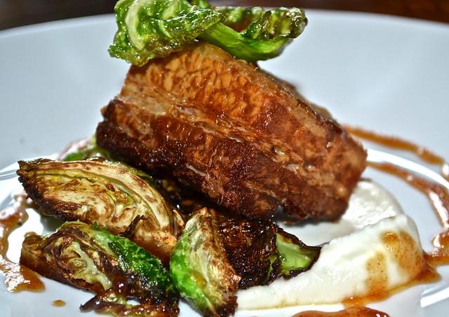 pork bellies - Solcstice Restaurant - Stowe Mountain Lodge, Vermont