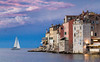 Rovinj town view with sailing yacht by Alpav72