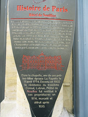 Photo of Hôtel de Noailles brown plaque