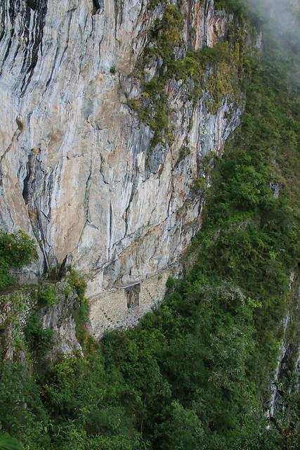 Inca Bridge. Machu Picchu, Peru.