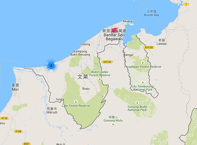 汶萊制服地圖