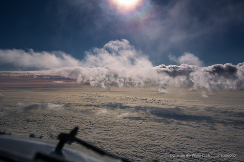 Flying around clouds