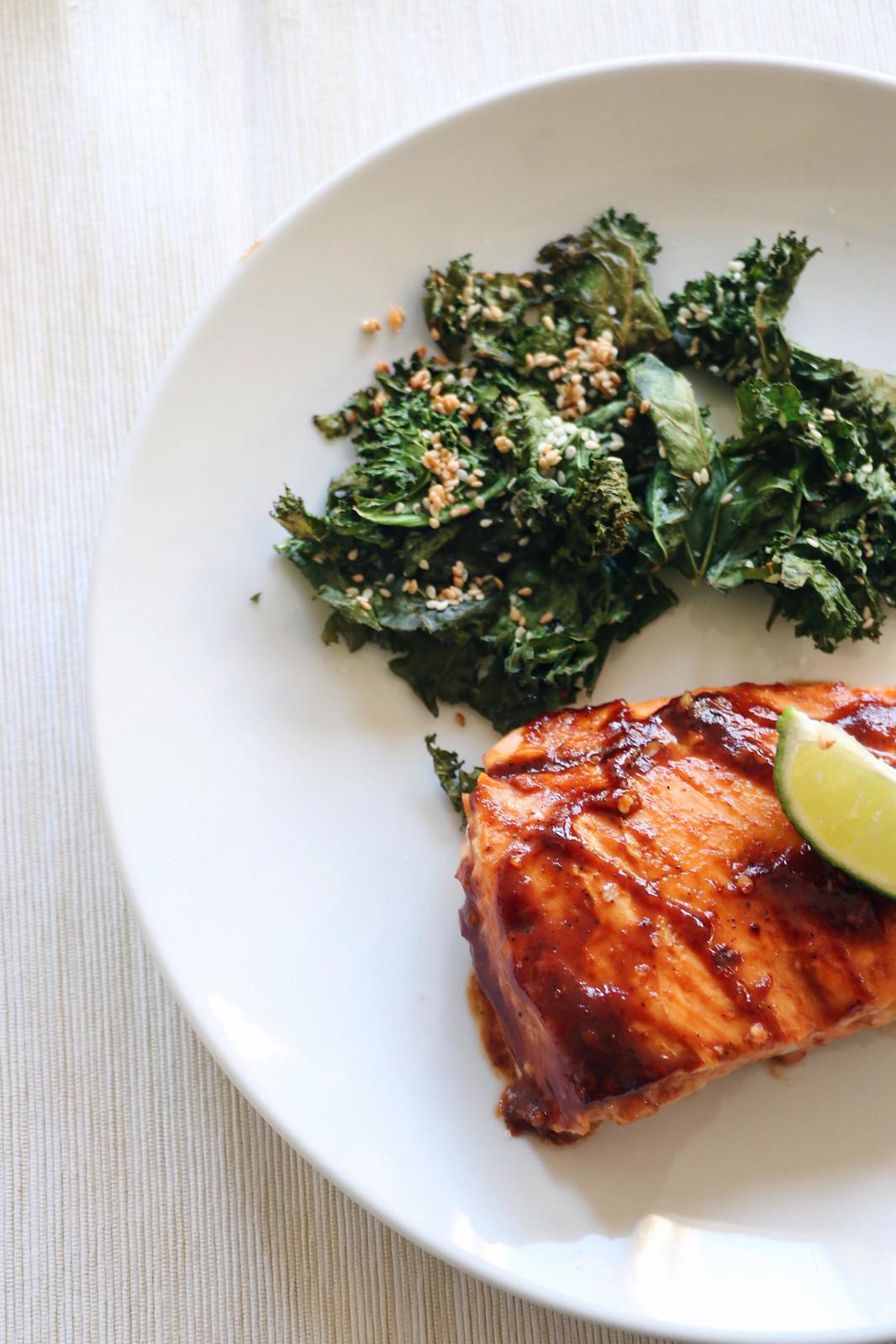salmon & crispy kale 2