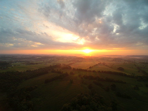 ohio fog sunrise aerial southeast uav