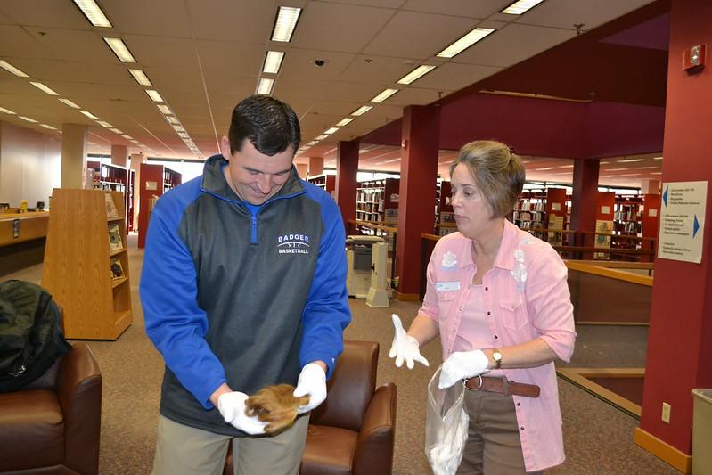 12.21.16 Bennington High School Students Visit Main Library