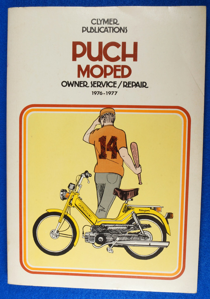 RD15221 Original Vintage Puch Moped Owner Service Repair Manual 1976-1977 DSC08742