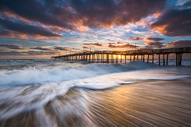 North Carolina Outer Banks Seascape Nags Head Pier OBX NC