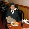 Dr. Takeshi Yamada and Seara (sea rabbit) at the Mid Town Chinese Buffet Restaurant at Times Square in Manhattan, NY on September 18, 2014.  20140918 241 237===X