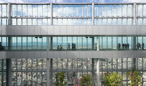 Harukas 300 observation deck, Abeno Harukas building, Osaka, Japan