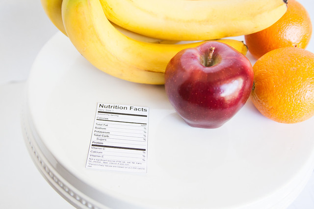 Fruit and Nutrition - Eating Healthy - Nutrition Label