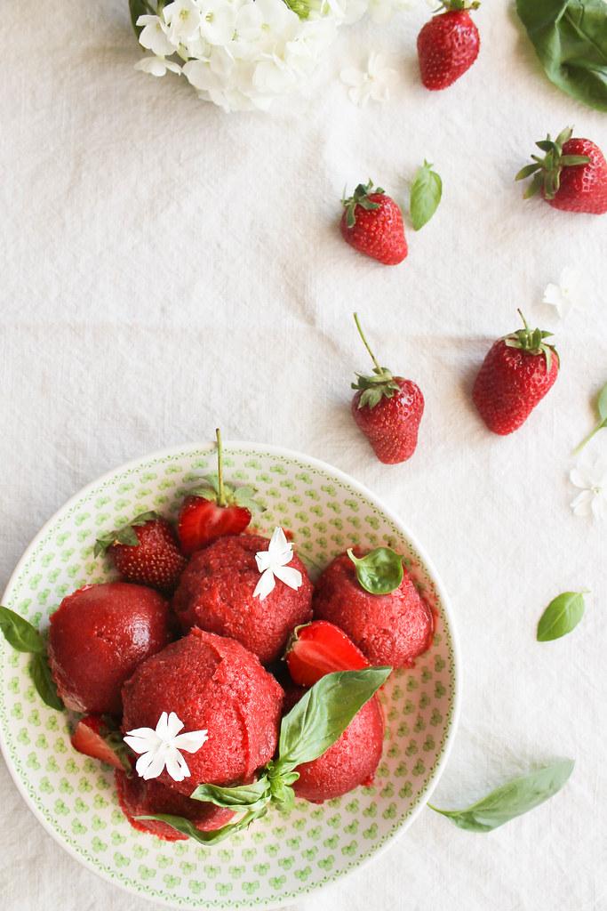 Sorbet fraise recette