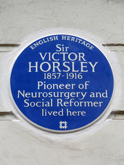 Photo of Victor Horsley blue plaque