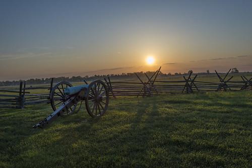 morning sun over Gettysburg
