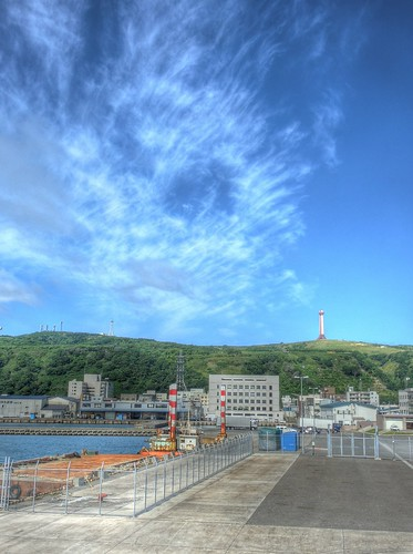 View of Wakkanai side from 'EINS SOYA' on JUL 21, 2015 (2)