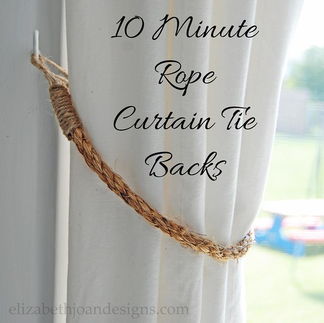 10 Minute Curtain Tie Backs