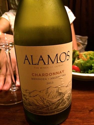 Alamos Chardonnay 2013 @Maro Sun (マロサン)