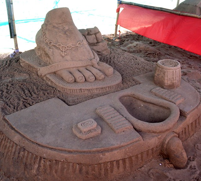 Sand Artist Ranjan Ganguly Spread Awareness 'USE TOILET' SandArt