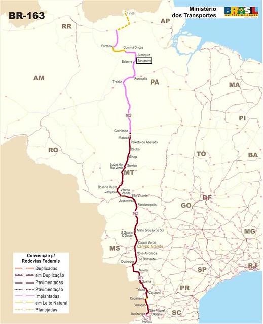 Mapa BR 163