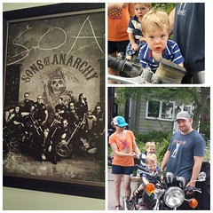I'm beginning to see a pattern emerge at K & D's house. Right on, brother. #soa #roadtriphome