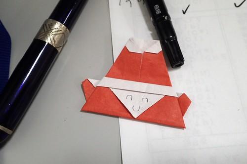 サンタ折り紙