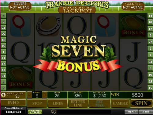 free Frankie Dettori's Magic Seven Jackpot slot bonus game