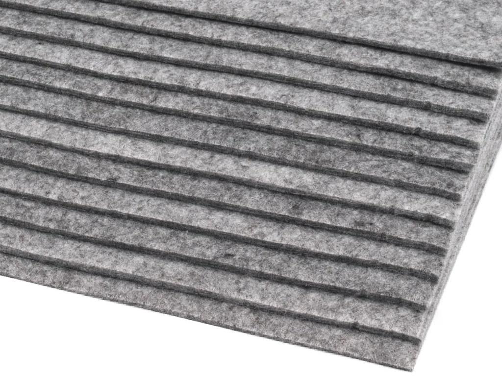 Filz (Stärke 2 - 3mm) grau, VE: 12 Bögen