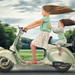 Just two girls and a Vespa 1947 by John Wilhelm is a photoholic