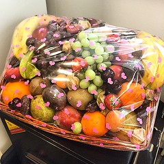 Won a massive fruit hamper at work. Feeling victorious. It weights about 500kg, give or take.