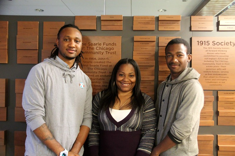 Kamal Williams, Isaiah James, and Akya Gossitt of the North Lawndale Youth-Led Tech | Summer 2015 Team of the Smart Chicago Collaborative