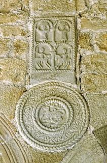 Gambar dari Santa María del Naranco. prerrománico