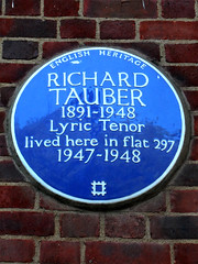 Photo of Richard Tauber blue plaque