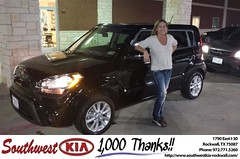 #HappyBirthday to Lisa Wood from James Adams at Southwest KIA Rockwall!
